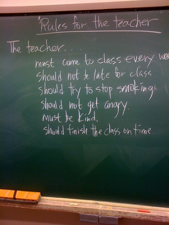 Rules for the teacher